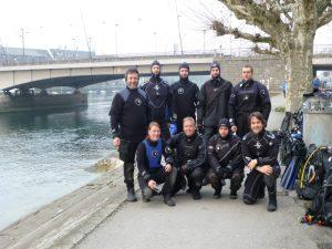 Tauchclub Bodensee Gruppenbild beim Sylvestertauchgang