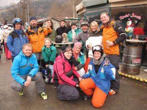 Tauchclub Bodensee Gruppenbild bei der Skiausfahrt